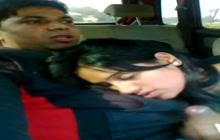 Hot Desi blowjob on the backseat
