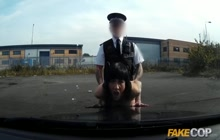Dirty cop fucking a crazy bitch
