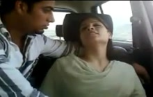 Indian lovers in car