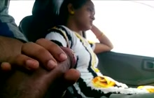 Mallu couple in car