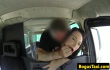 British babe pays taxi fare with pussy