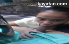 Amateur Filipina gives blowjob POV
